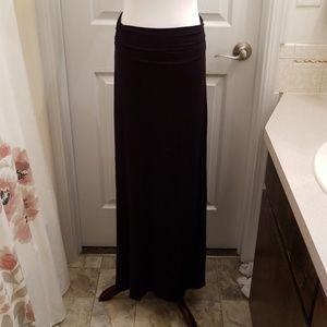 Ankle length black maxi skirt